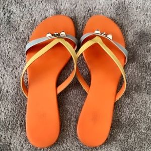 Authentic Hermès Slippers, patent leather